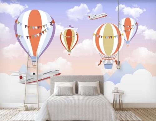 Аэростаты и самолеты в небе