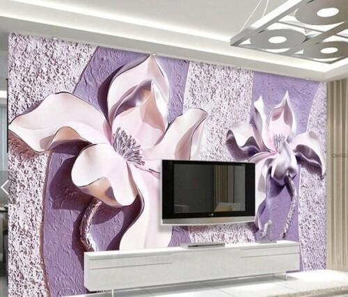 Барельеф с объемными цветами 3Д
