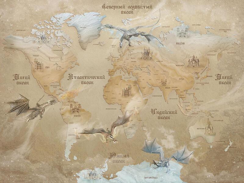 Карта мира древность драконы