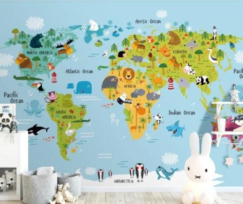 Карта мира схематично для детей