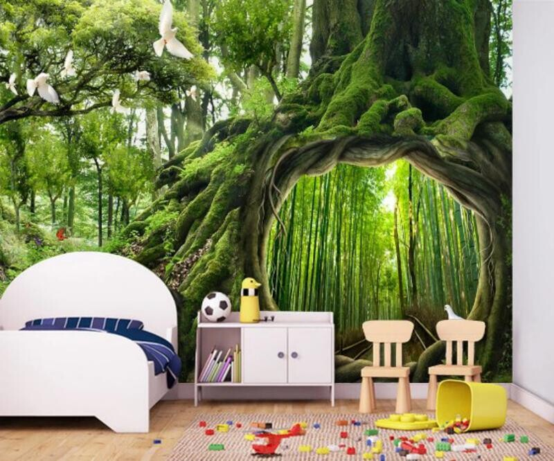 Лес, птицы, заросли, тропики, листва