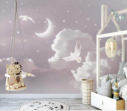 Пудровые облака, птицы и звезды