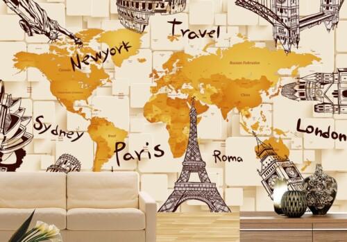 Стилизованная карта мира