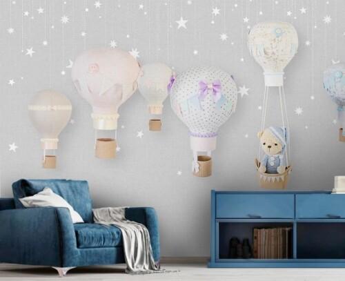 Воздушные шары и звезды