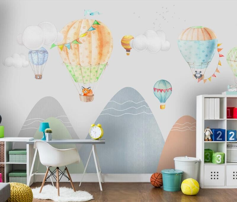 Воздушные шары над горами