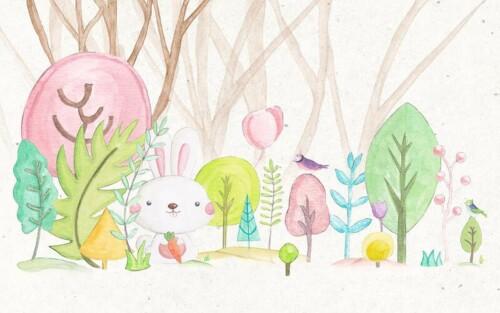 Заяц в сказочном лесу