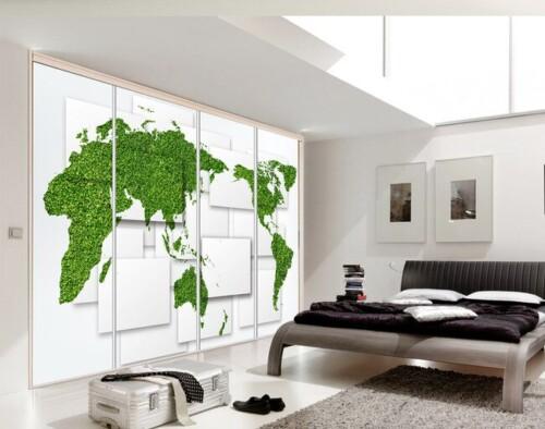 Зеленая карта мира